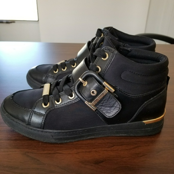 aldo black and gold sneakers Shop